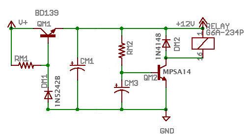Delaysch on Relay Circuit Schematic