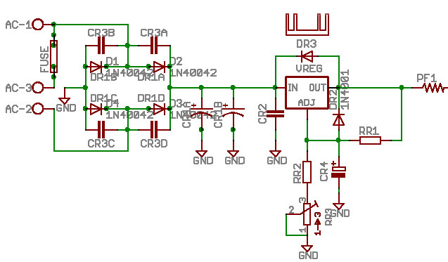 minimax power supply the power supply schematic for the minimax is based on the lm317 to 220 voltage regulator however extensive testing has gone into the new minimax ps to